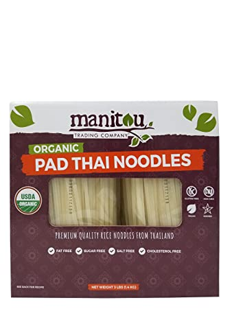 Amazon com : Manitou Organic Pad Thai Rice Noodles Premium Quality