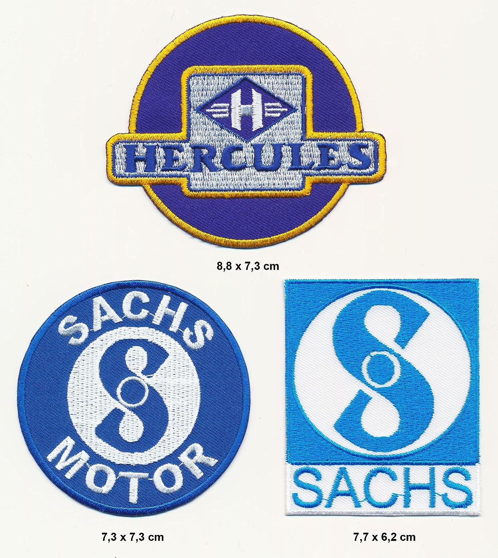 Hercules Sachs Aufn/äher Aufb/ügler Patch 3 St/ück Mofa Mokick TURBOVERSAND