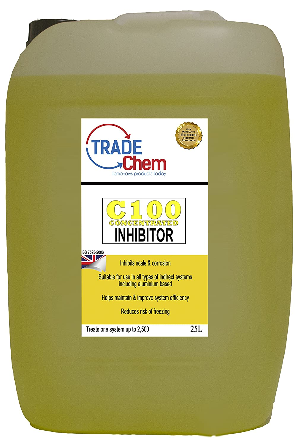 CENTRAL HEATING SYSTEM INHIBITOR (25L) TREATS 2, 500L SYSTEM Trade Chemicals