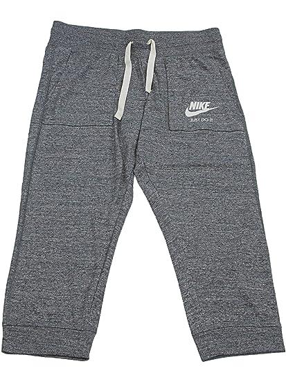 27dd812d1 Nike Womens Gym Vintage Capris Carbon Heather/Sail 883723-091 Size X-Small