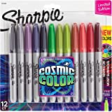 Sharpie Permanent Markers, Fine Point, Cosmic Color, Limited Edition, 12 Count