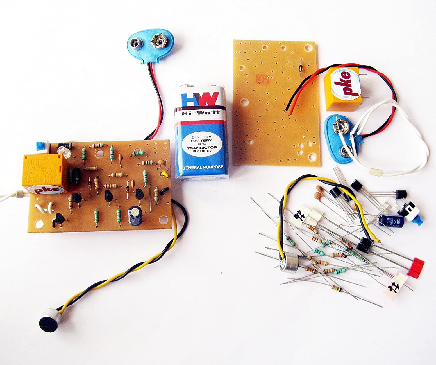 Pke Clap Switch Sound Control Circuit With Complete Assembling Kit Using Transistor Project
