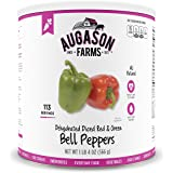 Augason Farms Dehydrated Diced Red & Green Bell Peppers #10 Can, 20 oz