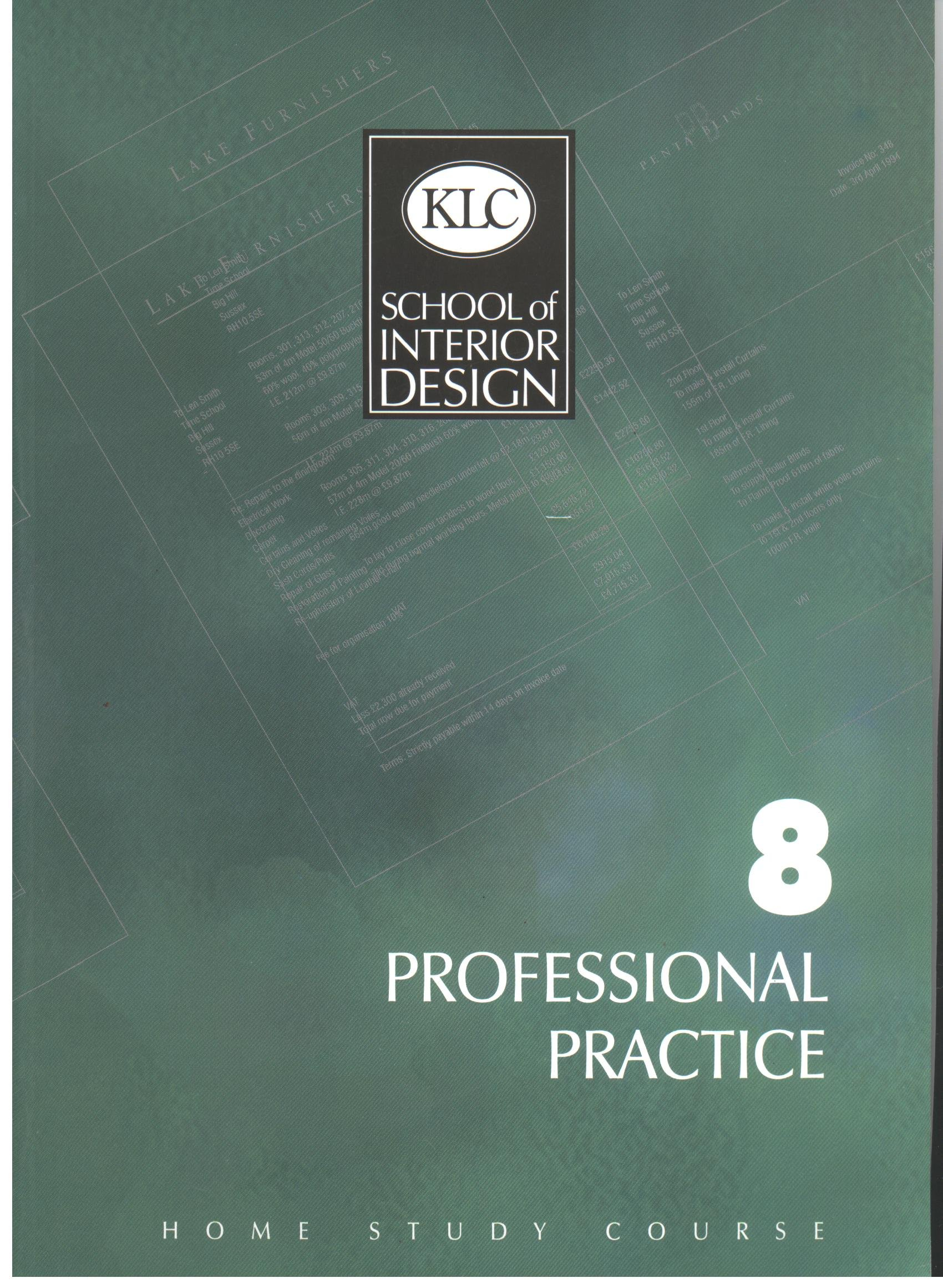 professional practice home study course klc school of interior design home study course amazon co uk jenny gibbs mary laurie books