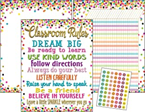 Teacher Created Resources Confetti Classroom Essentials Chart Pack (6881)