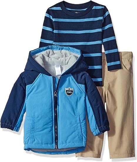 Little Me Boys Toddler Jacket Pants /& Shirt Set
