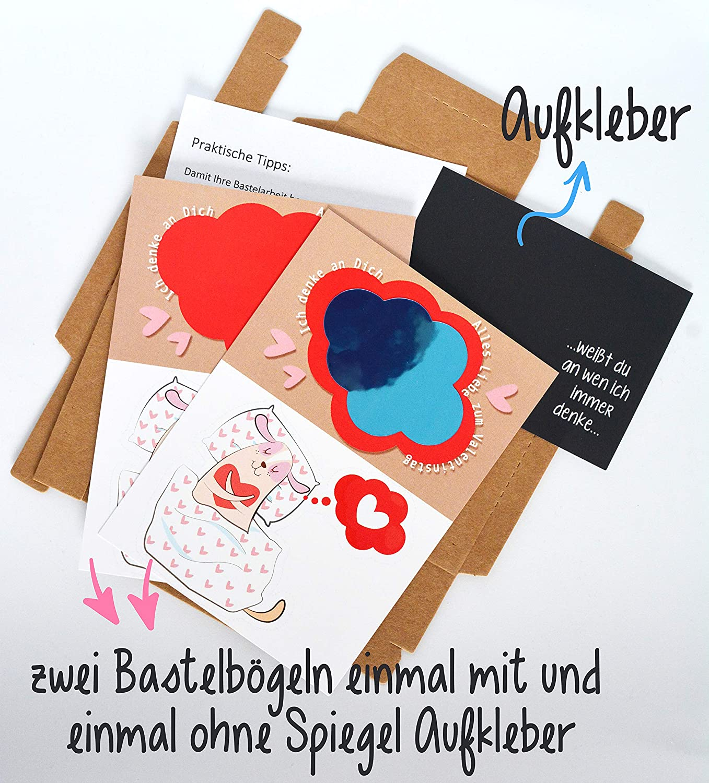 romantisches Kreatives witziges Geschenk f/ür M/änner zum Valentinstag /♥ originelle Geschenke zum selber machen BASTELSET /♥ ausgefallene nette s/ü/ße liebevolle Geschenke Valentinstag Geschenk f/ür ihn