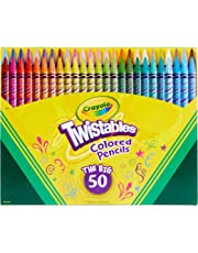 Crayola Twistables Coloured Pencils, Twist for Fun, Art & Craft, Gift for Kids, 50 Colours