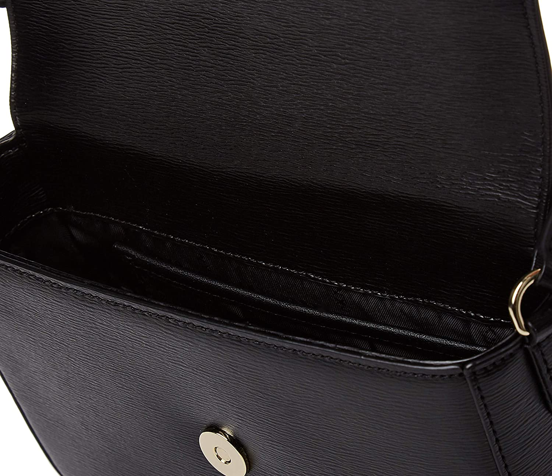 DKNY Medium Bryant Black Textured Leather Cross-Body Bag Black