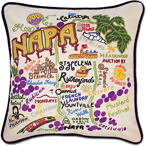 Catstudio Napa Valley Embroidered Decorative Throw Pillow