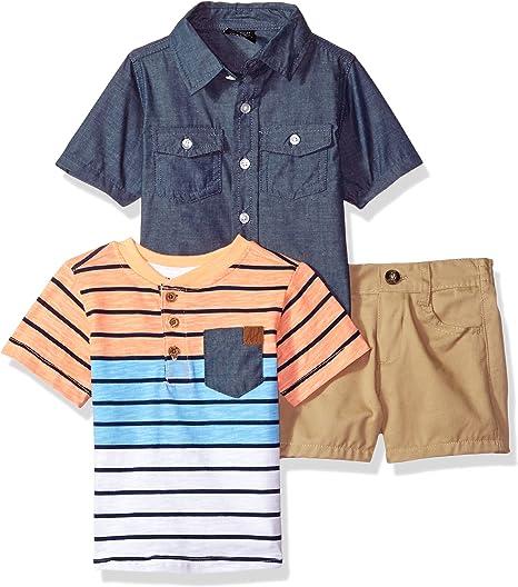 American Hawk Boys Striped Polo 3pc Denim Pant Set Size 4 5 6 7