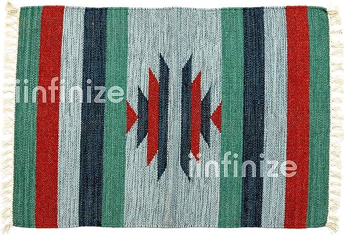 Alfombra de yute de algodón indio hecho a mano, estilo retro, hecha a mano, de lana de yute, alfombra de yute, alfombra de yute tejida a mano, borde de algodón, alfombra de