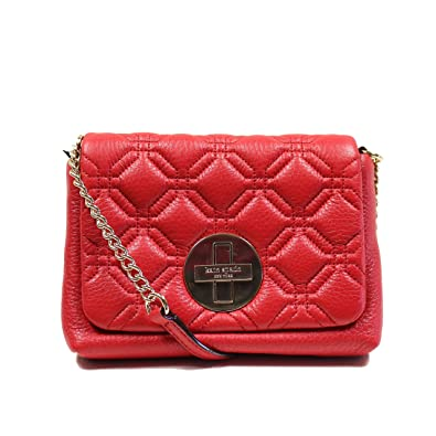 Amazon.com: Kate Spade Astor Court Naomi Red Quilted Leather ... : kate spade red quilted bag - Adamdwight.com