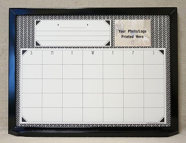 herringbone one month framed dry erase wall calendar large custom white board command center