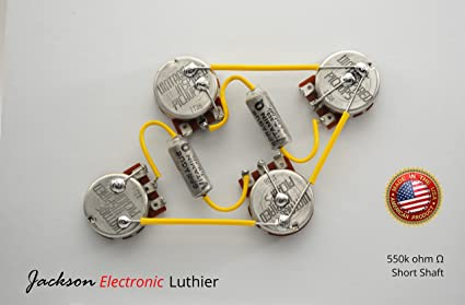 Amazon.com: Les Paul Wiring Harness Kit by JEL 550k VIP ... on