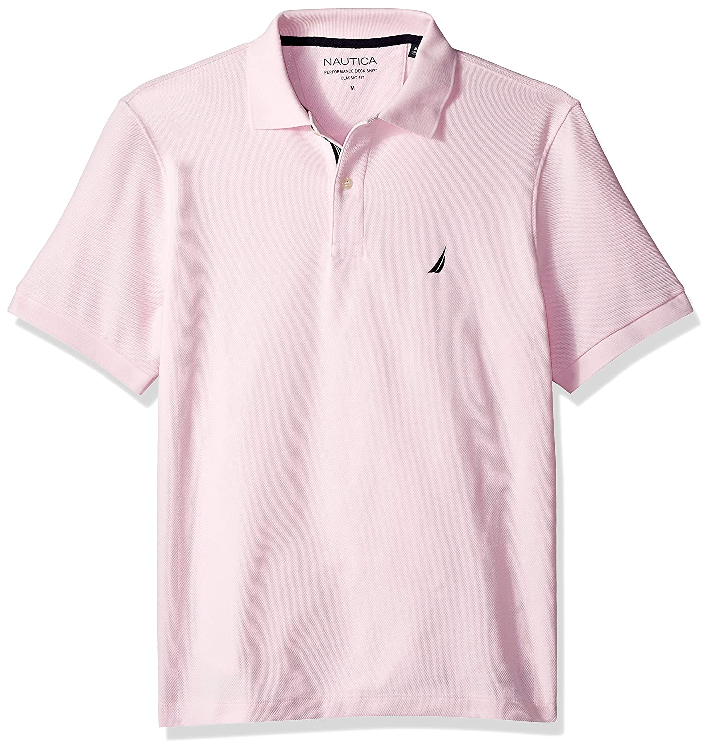 Nautica Mens Classic Fit Short Sleeve Solid Polo Shirt