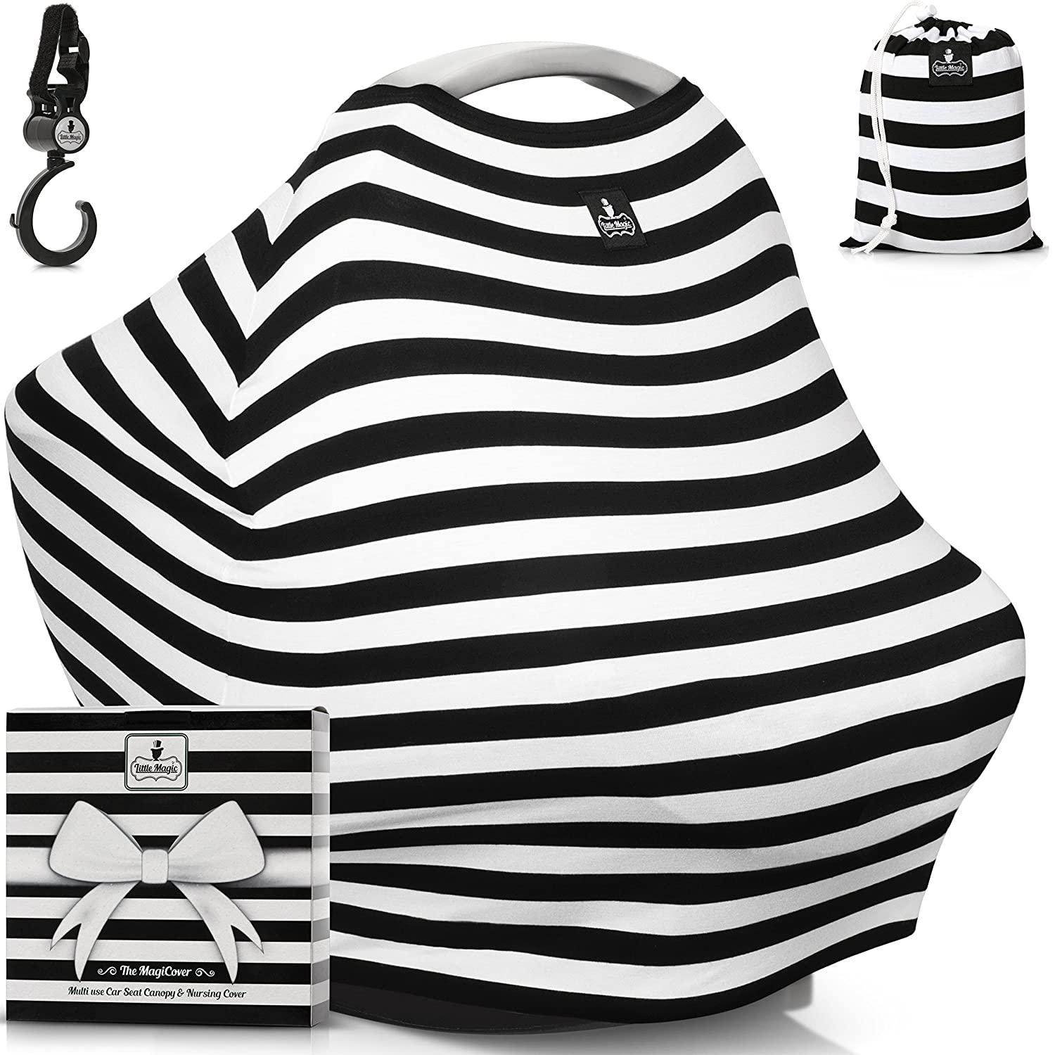Amazon.com Baby Car Seat Canopy u0026 Multi-Use Nursing Cover - FREE GIFT BOX SET -  The MagiCover  by Little Magic Baby  sc 1 st  Amazon.com & Amazon.com: Baby Car Seat Canopy u0026 Multi-Use Nursing Cover - FREE ...