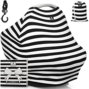 Baby Car Seat Canopy u0026 Multi-Use Nursing Cover - FREE GIFT BOX SET -  sc 1 st  Amazon.com & Amazon.com: Baby Car Seat Canopy u0026 Multi-Use Nursing Cover - FREE ...