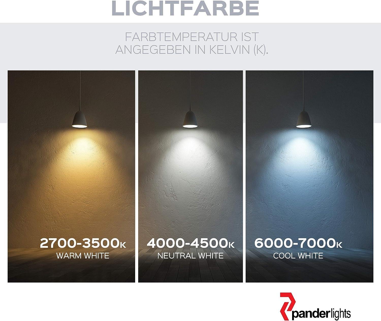 LED Modul 230V Ersatz GU10 Flach 5W Warmweiß 450lm 50mm (9er SET) 6er Led Modul