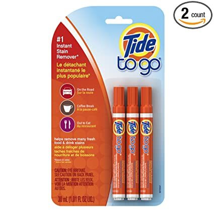 Tide to Go Instant Stain Remover Liquid Pen, 3 Count (2 Packages)