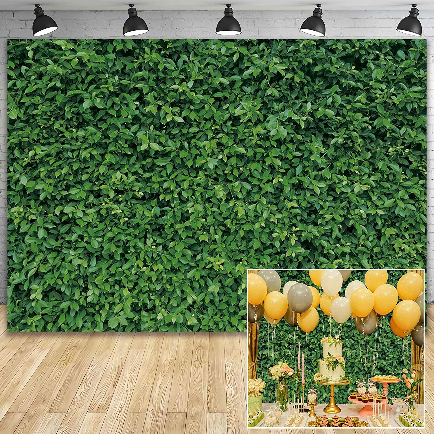 8x6.5ft Grunge Tropical Leaves Vivid Shoot Polyester Photography Background Summer Party Wedding Shoot Backdrop Indoor Decoration Wallpaper Foliage Studio Props