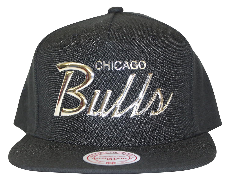 dd863ce9968 Mitchell   Ness Men s NBA Metallic Silver TPU Raised Script Logo Snapback  Cap