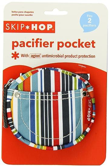 Skip Hop Pacifier Pocket, Metro Stripe (Discontinued by Manufacturer)