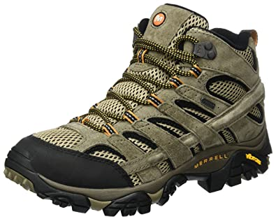 bd932ffdb8c24f Merrell Men s Moab 2 Leather Mid GTX High Rise Hiking Boots  Amazon ...