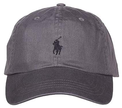 84019aa5c54f73 Ralph Lauren Casquette Grise Logo Noir pour Homme  Amazon.fr  Vêtements et  accessoires