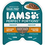 IAMS Perfect Portions Healthy Grain Free Wet Cat Food, Pate and Cuts in Gravy, 24 Twin Packs