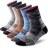 Men's Hiking Walking Socks, FEIDEER Multi-pack Wicking Cushioned Outdoor Recreation Crew Socks