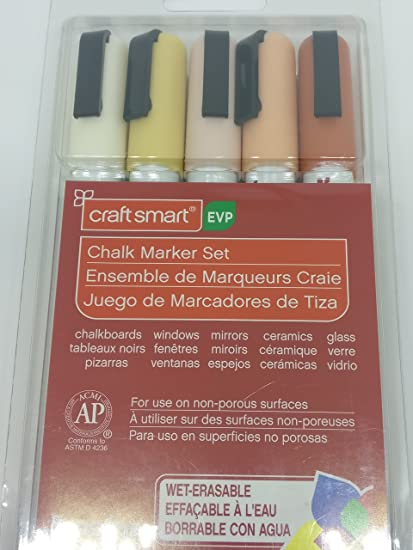 Amazon.com: Craft Smart Chalk Marker 5pc Set Brown Beige ...