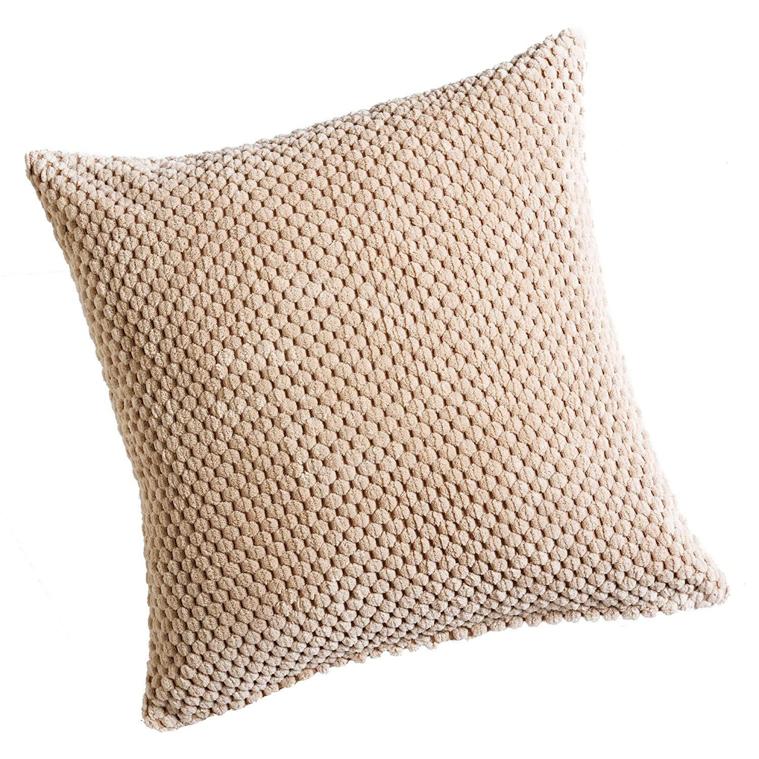 Hamilton McBride Chenille Spot Chocolate Brown Cushion Cover 20inx20in (50cmx50cm) Approximately By 4 Your Home