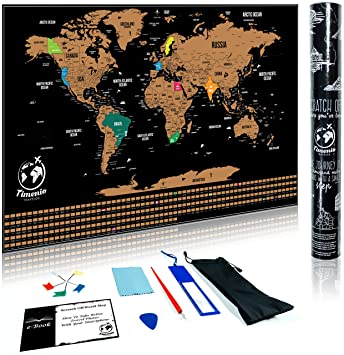 Amazon scratch off world map poster with scratching pen scratch off world map poster with scratching pen guitar pick magnifier cleaning cloth gumiabroncs Gallery