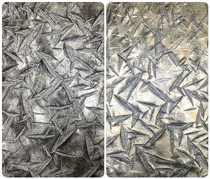 712b1b0e424 Amazon.com: Matte Metallic Foil on Stretch Crinkle Space Dye Sweater ...