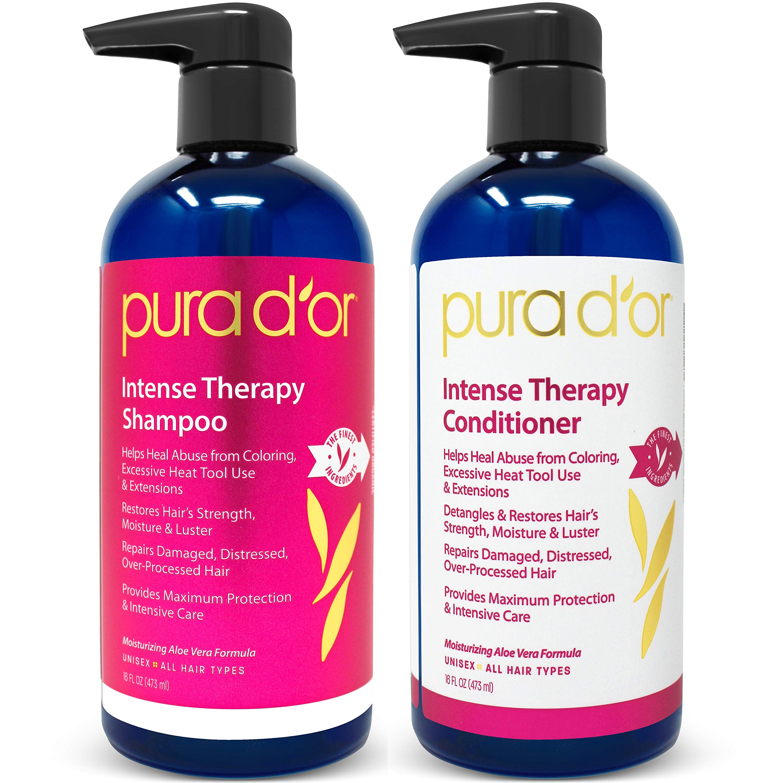 PURA D'OR Intense Therapy Shampoo & Conditioner