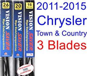 2011-2015 Chrysler Town & Country Replacement Wiper Blade Set/Kit (Set of