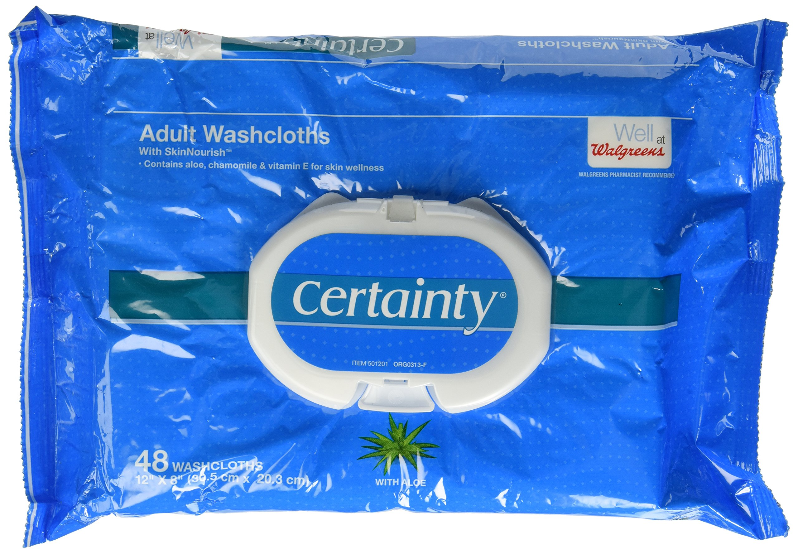 Walgreens Certainty Adult Disposable Washcloths, 48 Washcloths (Pack of 3)