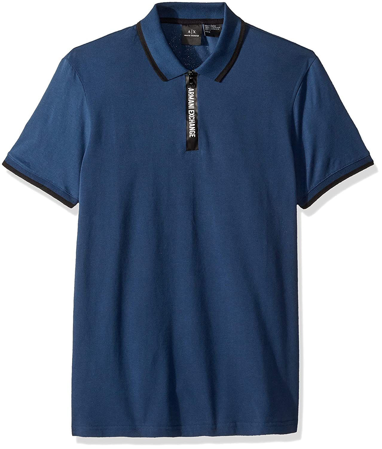 1260c2d9 A|X Armani Exchange Men's Short-Sleeve Polo with Logo Collar Tape