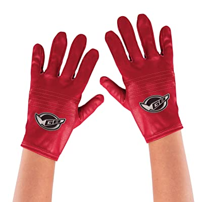 Disguise Red Ranger Beast Morpher Kids' Costume Gloves: Toys & Games