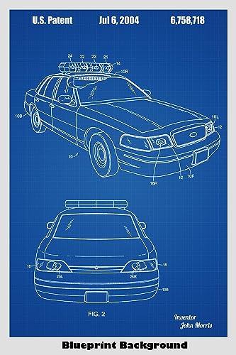 Amazon police car poster patent print art poster choose from amazon police car poster patent print art poster choose from multiple size and background color options handmade malvernweather Gallery
