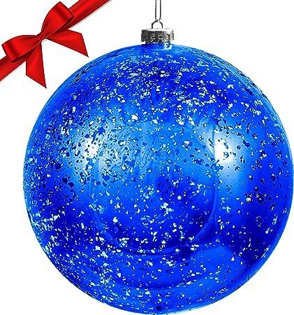 Palline Di Natale.Palline Di Natale Grandi Palline Di Natale Blu Da 19 5 Cm Con Corda Addobbi Natalizi Palle Di Natale Blu Palline Di Natale Grandi In Plastica Decorazioni Natalizie Palle