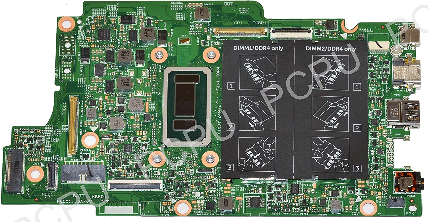 PC Parts Unlimited 77G1M Dell Inspiron 7368 7569 Laptop Motherboard w/Intel i7-6560U 2.2GHz CPU