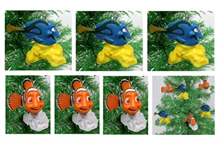 finding nemo finding dory holiday christmas ornament set unique shatterproof plastic design - Finding Nemo Christmas Decorations