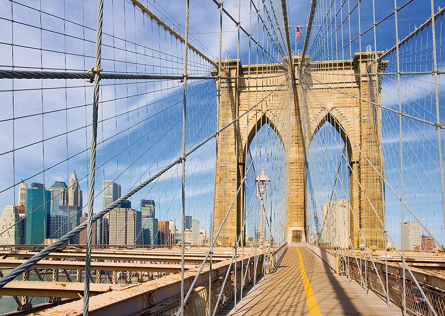 Amazon.com: Ravensburger View from the Brooklyn Bridge Puzzle (1000 ...