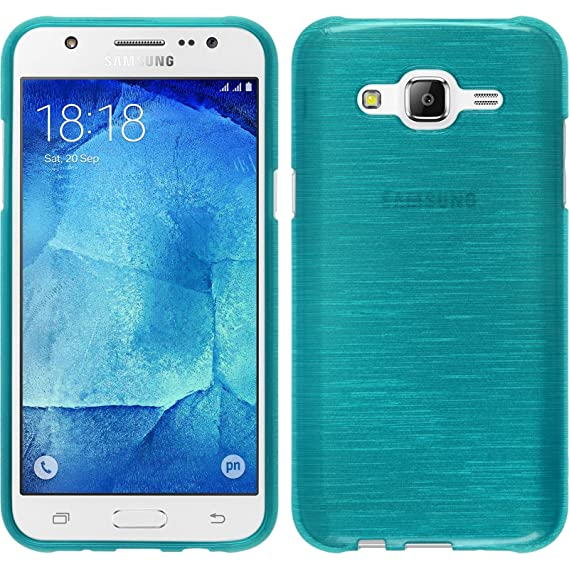 new concept 89557 17bdf PhoneNatic Silicone Case for Samsung Galaxy J7 (2015 / J700) Brushed Blue -  Cover + Protective foils