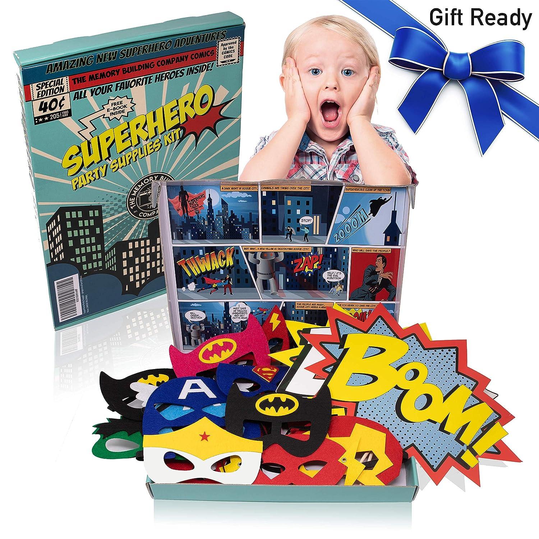 Amazon com: Superhero Party Supplies Kit with 7ft Superhero Backdrop