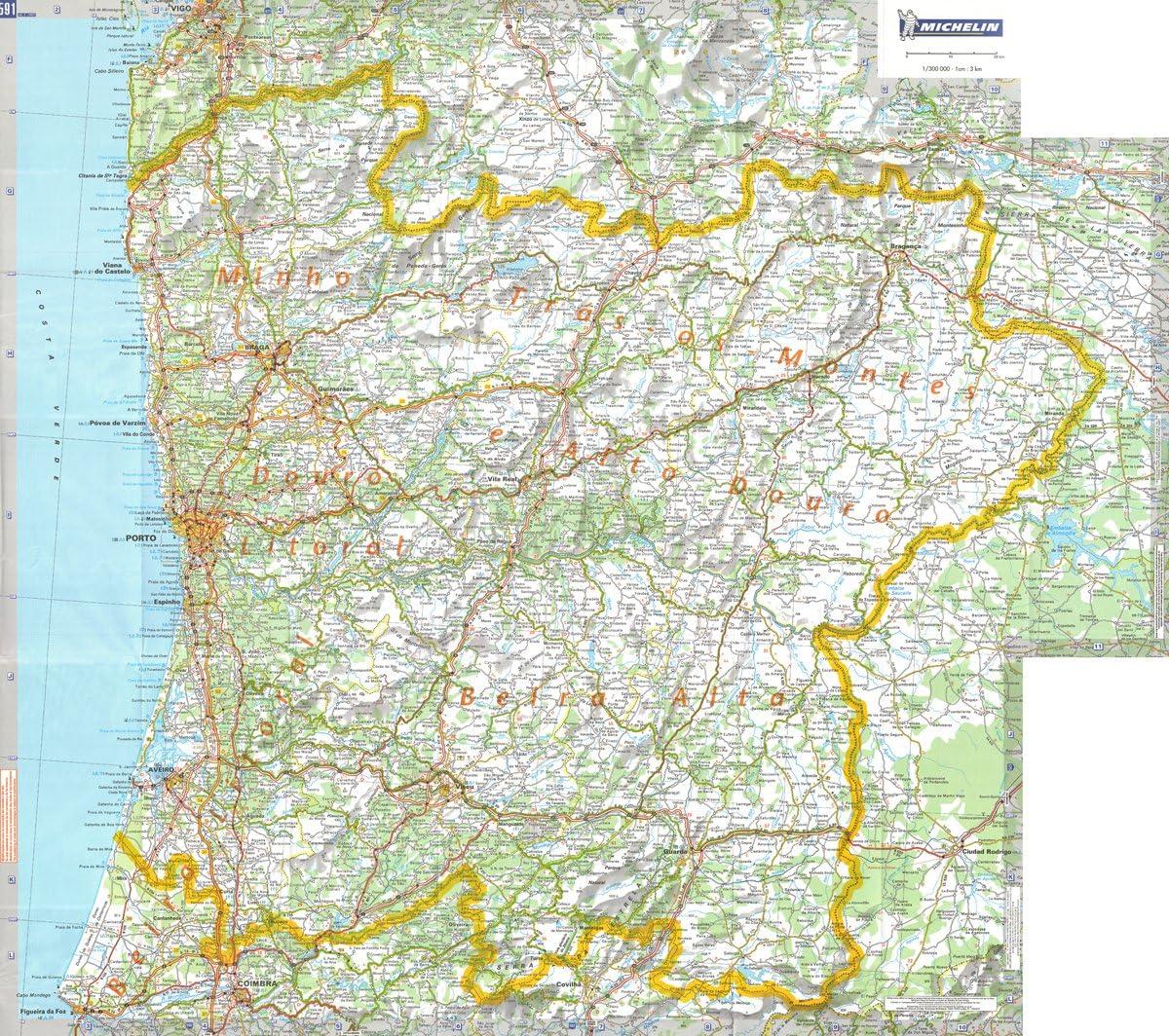 Michelin regional pared mapa del norte de Portugal: Amazon.es: Hogar