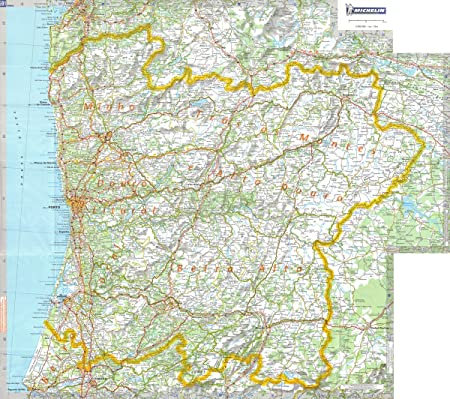 carte nord du portugal Michelin Regional Wall Map of Portugal   North (a   Encapsulated