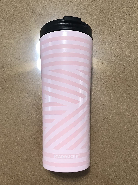 16 fl oz Starbucks 2018 Pink Zebra Line Tumbler